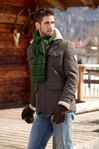 Tweed-Outdoorjacke