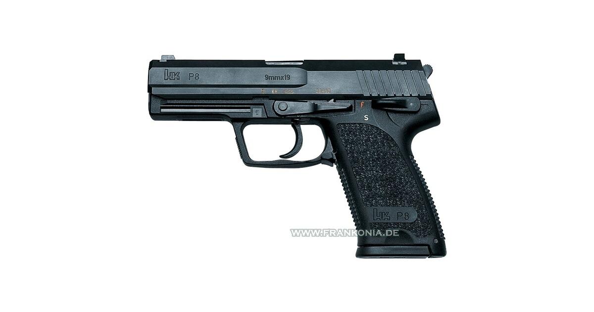 heckler koch p8 kaliber 9 mm luger pistolen. Black Bedroom Furniture Sets. Home Design Ideas