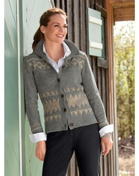 Jacquard Strickjacke