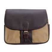 Shoulder Bag Leder-Canvas, Baron