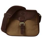 Cartridge Bag, Leder-Canvas, Baron