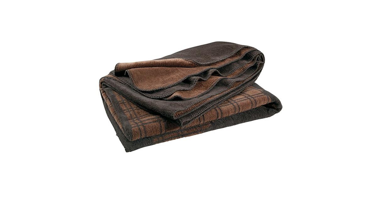 heimdecke mit hirschmotiv braun accessoires. Black Bedroom Furniture Sets. Home Design Ideas