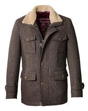 Tweed-Outdoorjacke