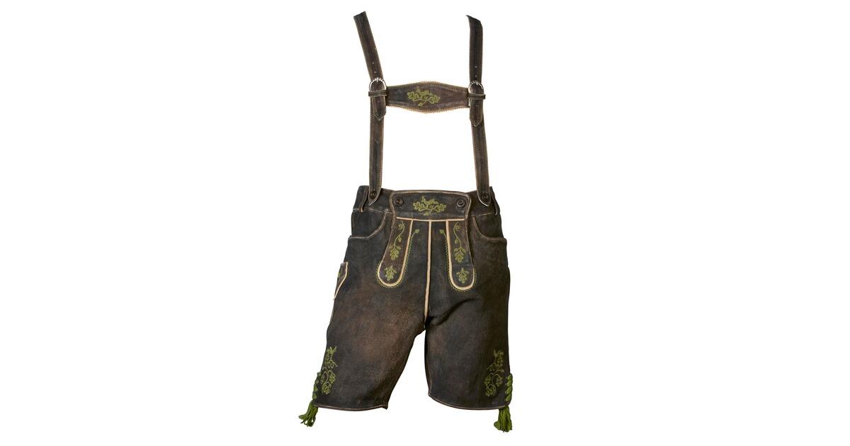 almsach kurze lederhose laux braun hosen bekleidung herrenmode mode online shop. Black Bedroom Furniture Sets. Home Design Ideas
