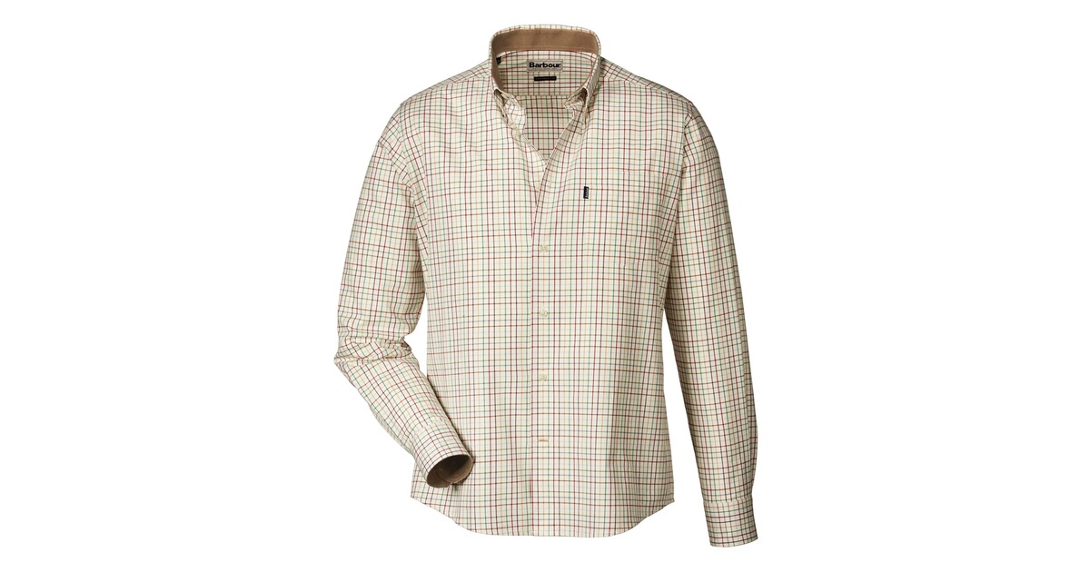barbour karohemd charles beige hemden bekleidung herrenmode mode online shop. Black Bedroom Furniture Sets. Home Design Ideas