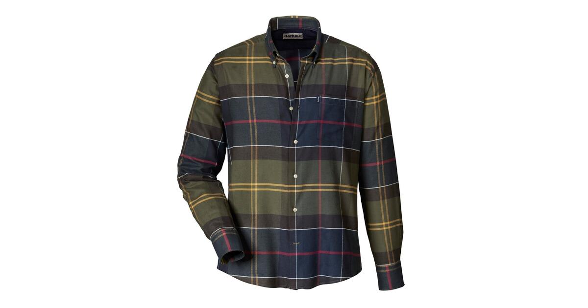 barbour karohemd john gr n hemden bekleidung herrenmode mode online shop. Black Bedroom Furniture Sets. Home Design Ideas