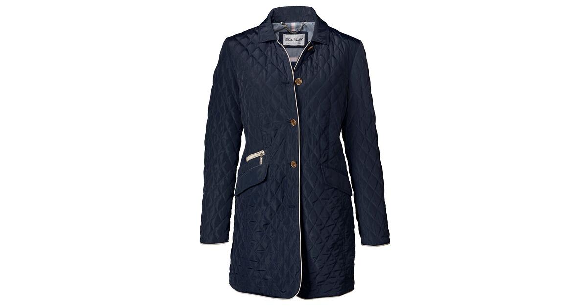 white label steppjacke rautenmuster blau jacken bekleidung damenmode mode online shop. Black Bedroom Furniture Sets. Home Design Ideas
