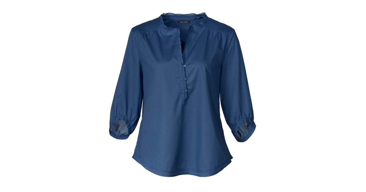 marc o 39 polo schlupfbluse blau blusen bekleidung. Black Bedroom Furniture Sets. Home Design Ideas