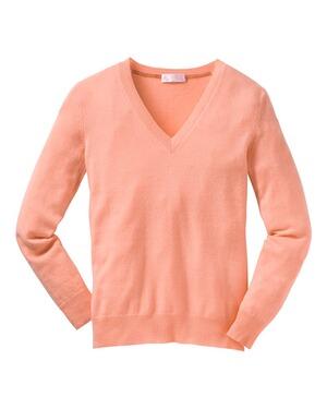 brigitte von sch nfels cashmere v pullover orange. Black Bedroom Furniture Sets. Home Design Ideas