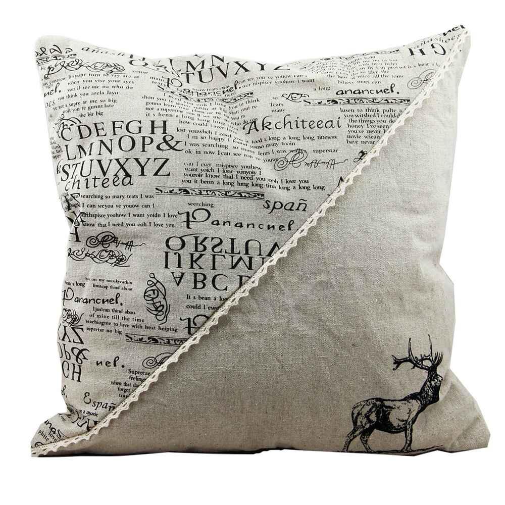 kissen mit schriftzug und hirsch accessoires geschenke heim familie ausr stung online. Black Bedroom Furniture Sets. Home Design Ideas
