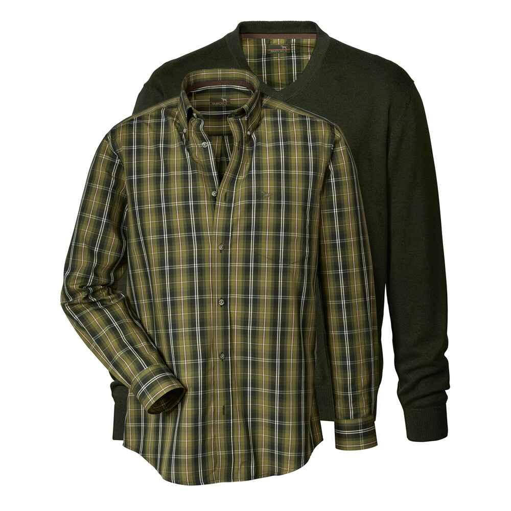 parforce pullover hemd set gr n pullover troyer strick bekleidung f r herren. Black Bedroom Furniture Sets. Home Design Ideas