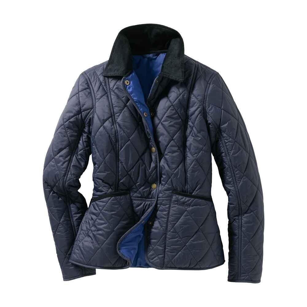barbour steppjacke clover liddesdale blau jacken bekleidung damenmode mode online shop. Black Bedroom Furniture Sets. Home Design Ideas