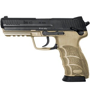 Pistole HK45 Full Size, sandfarben