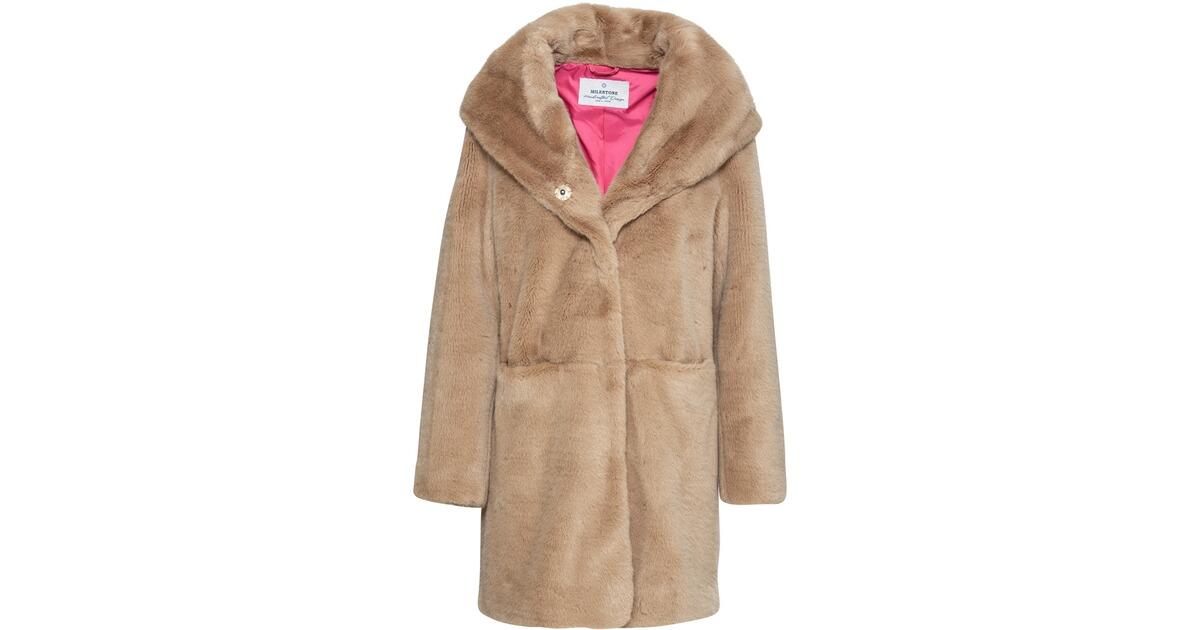 Milestone Fake Fur Mantel Finia (Camel) - Mäntel ...