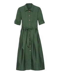 Baumwoll-Hemdblusenkleid