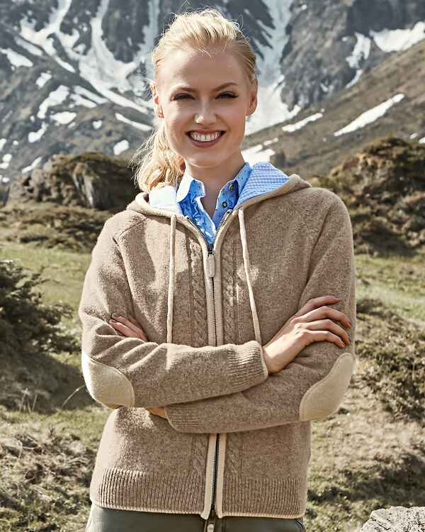 Strickjacke mit Kapuze, REITMAYER