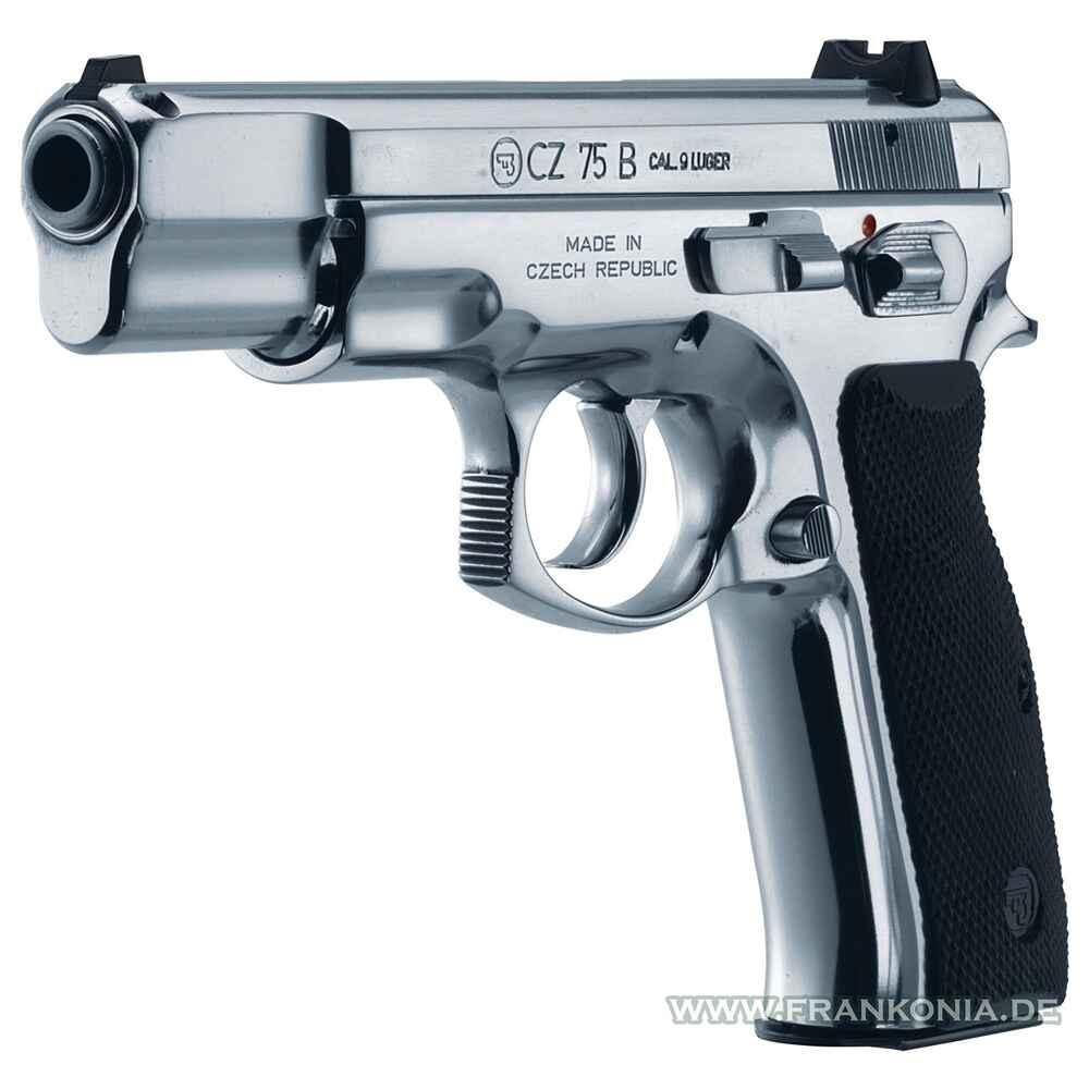 cz cz 75 edelstahl kaliber 9 mm luger pistolen. Black Bedroom Furniture Sets. Home Design Ideas