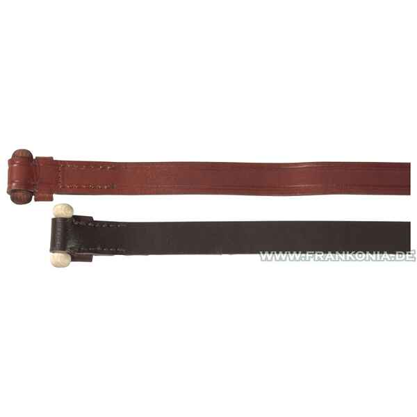 Bridle leather gun sling with wooden knob, 115 cm, Parforce