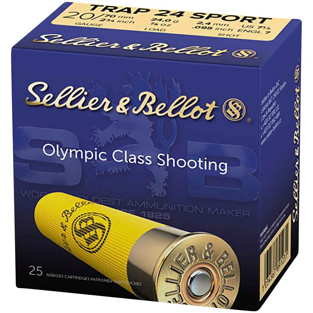 20/70 Sport Trap 24 Sport 24 gr. 2,4 mm, Sellier & Bellot