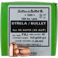 S+B Ges. .452 230 grs. Vlm  100 St., Sellier & Bellot