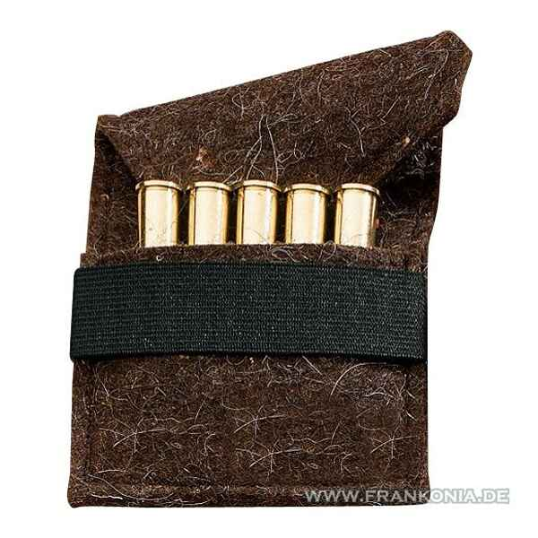 Cartridge pouch, felt, for 5 ball cartridges, Hubertus