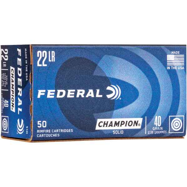 .22 lfb. Target Champion 2,6g/40grs., Federal Ammunition