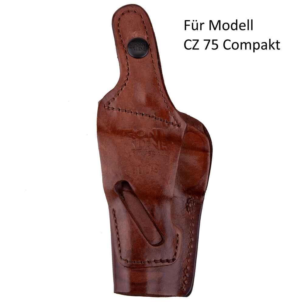 Front Line 4-Wege-Holster (Leder braun) - Kurzwaffenzubehör ...