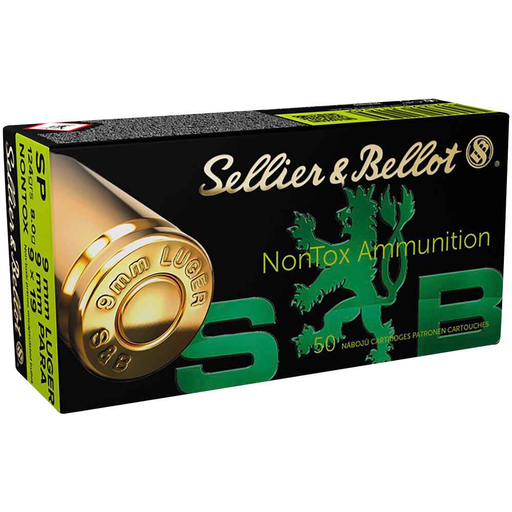 9 mm Luger Teilmantel NonTox 8,0g/124grs., Sellier & Bellot