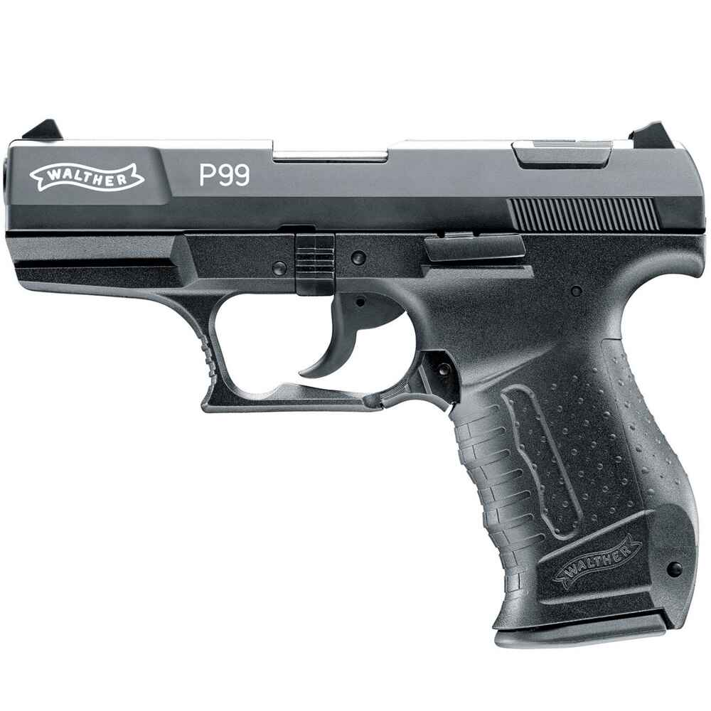 walther gas sig pistole p99 schwarz variante p99 schwarz kunststoff gas signal waffen. Black Bedroom Furniture Sets. Home Design Ideas