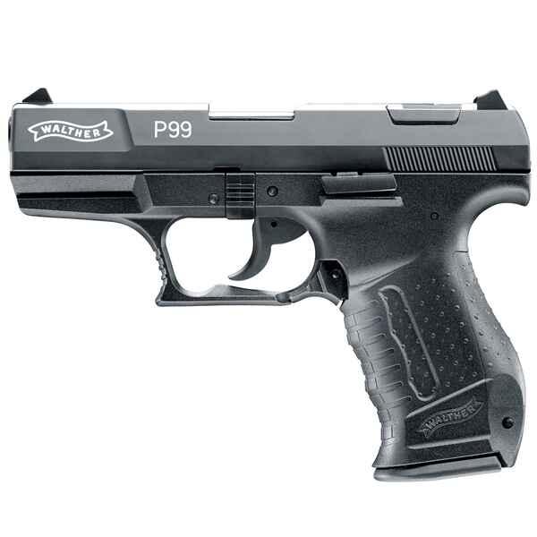 walther schreckschuss pistole p99 schwarz kunststoff. Black Bedroom Furniture Sets. Home Design Ideas