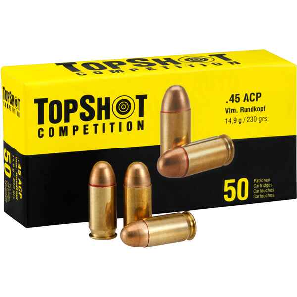 .45 ACP Vollmantel 14,9g/230grs., TOPSHOT Competition