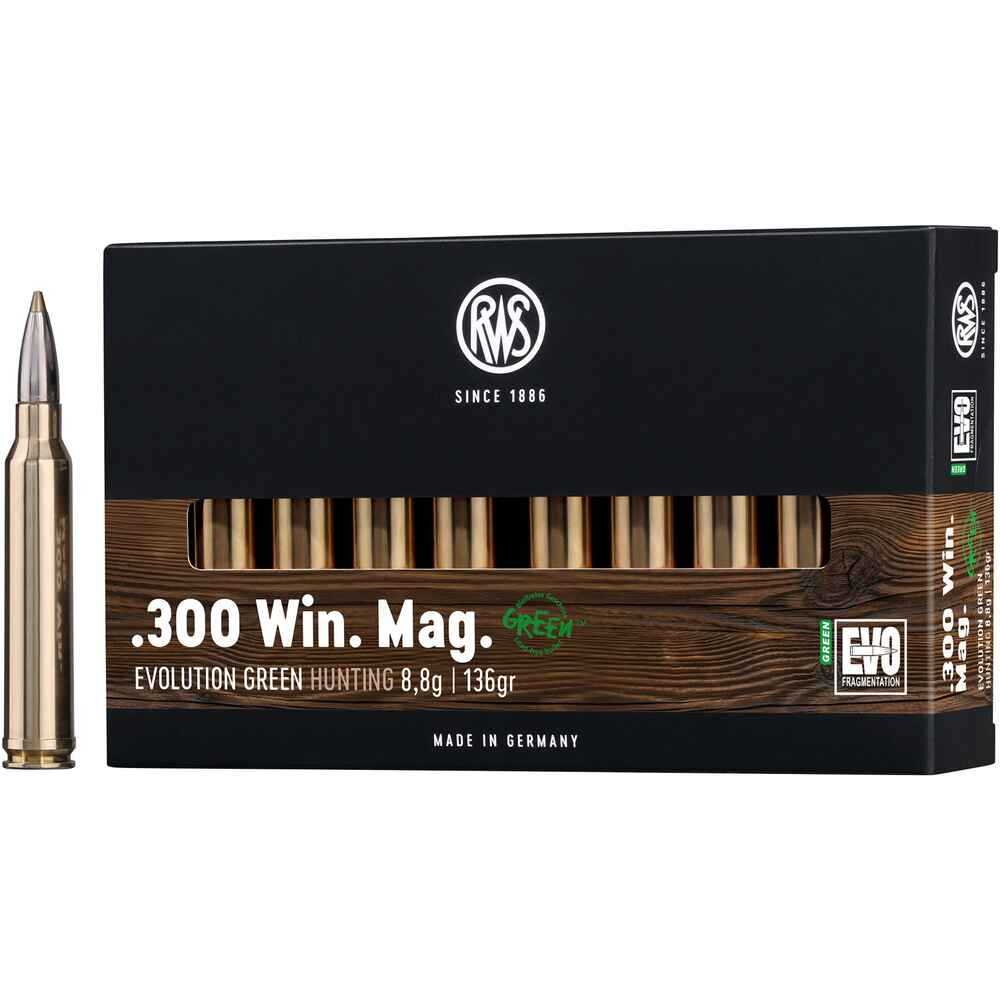 300 Win. Mag. Evo Green 139 grs, RWS