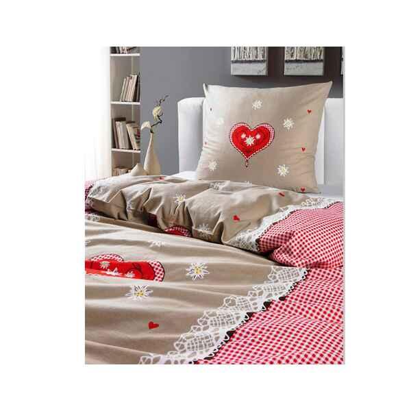 bettw sche flanell alpengl ck ausf hrung ma e bettbezug 135x200 cm kissenbezug 80x80 cm. Black Bedroom Furniture Sets. Home Design Ideas