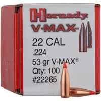 Hornady Ges. .224 V-MAX 53grs. 100St., Hornady