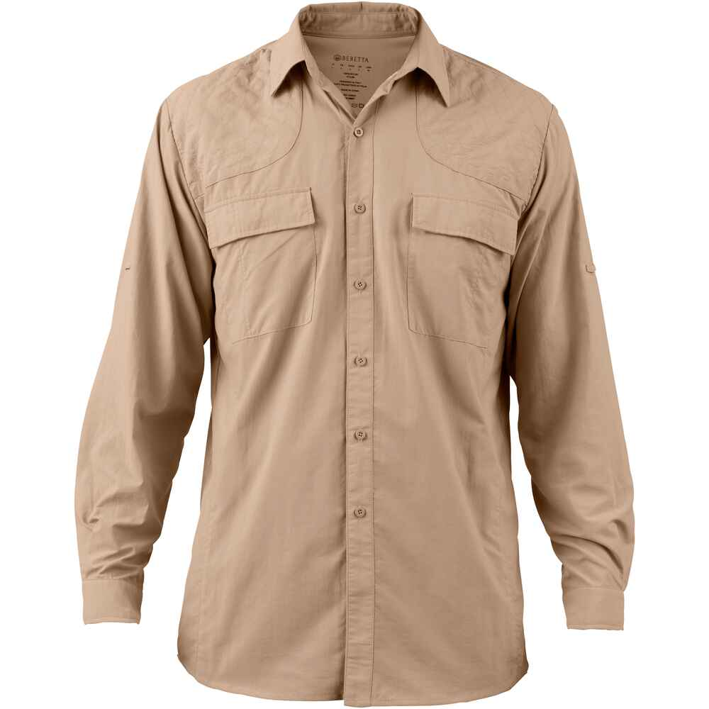 beretta funktionshemd sport safari shirt beige hemden bekleidung f r herren bekleidung. Black Bedroom Furniture Sets. Home Design Ideas