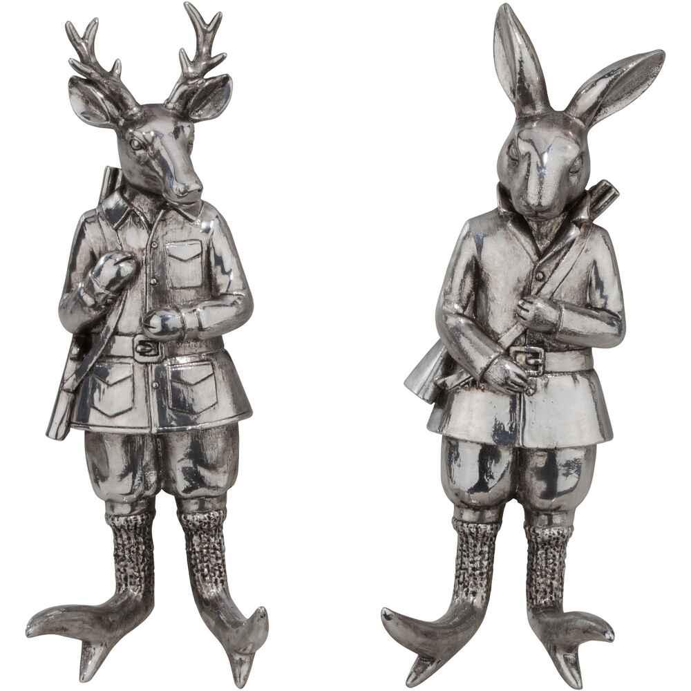 Wanddeko Hase Und Hirsch, 2er Set