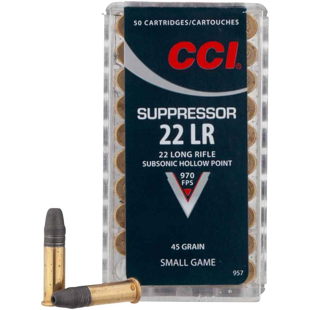 .22 lfb. Suppressor HP 45 grs., CCI