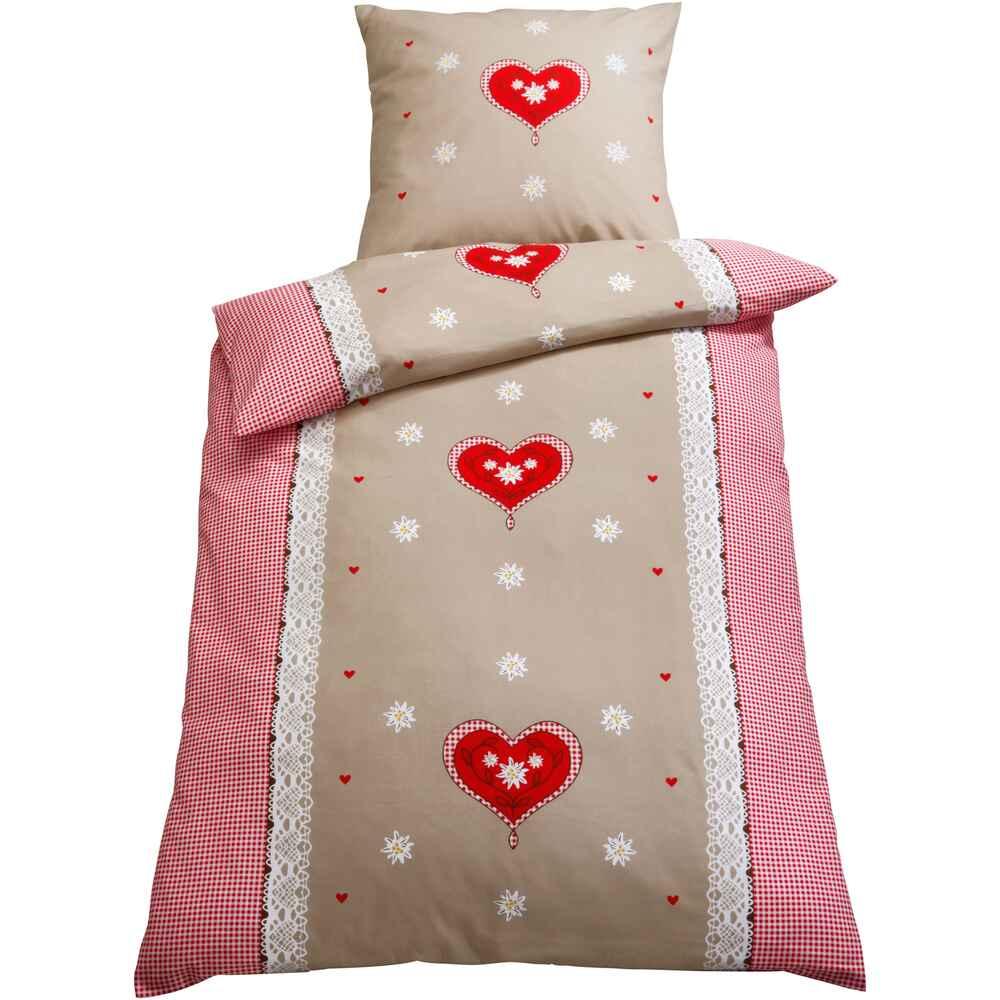 bettw sche flanell alpengl ck ma e bettbezug 155x220 cm kissenbezug 80x80 cm accessoires. Black Bedroom Furniture Sets. Home Design Ideas