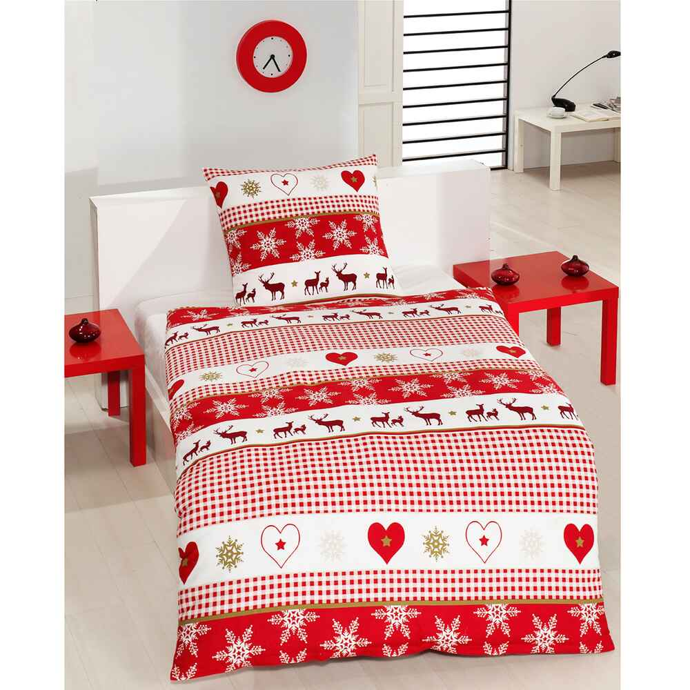 bettw sche edelsatin winterzauber ma e 155x220 cm accessoires geschenke heim familie. Black Bedroom Furniture Sets. Home Design Ideas