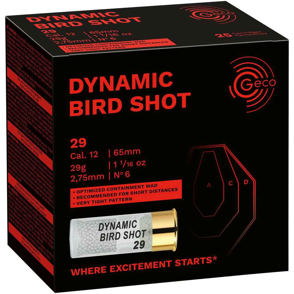 12/65 Dynamic Bird Shot 2,75mm 29g, Geco