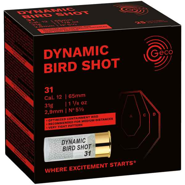 12/65 Dynamic Bird Shot 2,9mm 31g, Geco