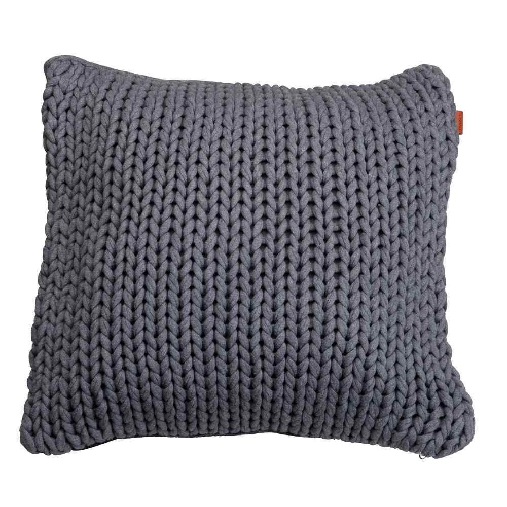 gant strickkissen grau dekoration wohnaccessoires wohnen online shop. Black Bedroom Furniture Sets. Home Design Ideas