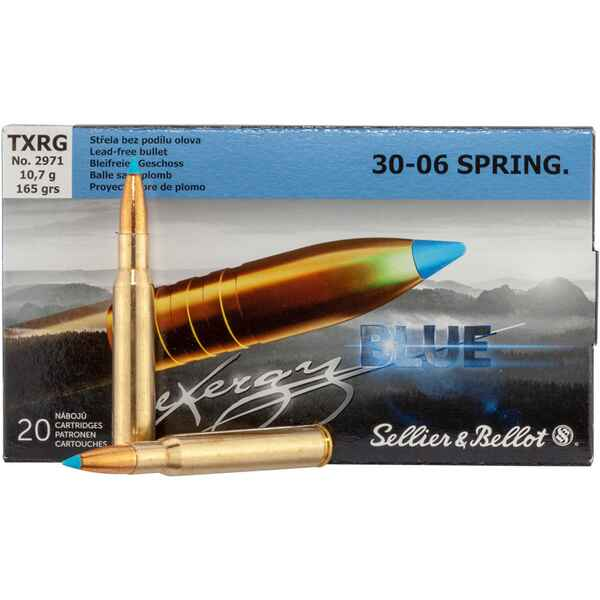 .30-06 Spr. tipped eXergy blue 10,7g/165grs, Sellier & Bellot