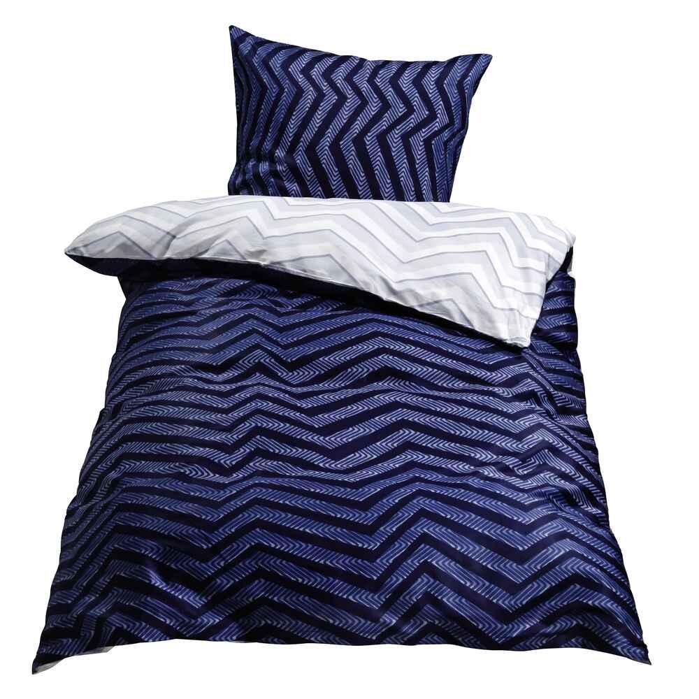 bettw sche satin trian blau bettw sche heimtextilien wohnen online shop. Black Bedroom Furniture Sets. Home Design Ideas