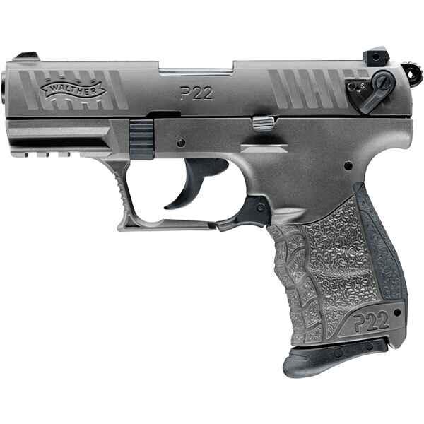 walther schreckschuss pistole p22q tungsten grey gas. Black Bedroom Furniture Sets. Home Design Ideas