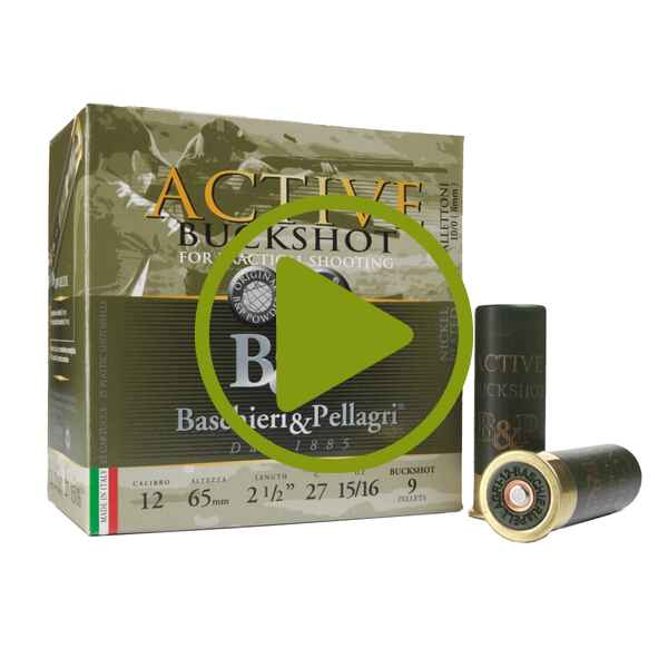 12/65 F2 Active Buckshot 8,0mm 27g, Baschieri & Pellagri