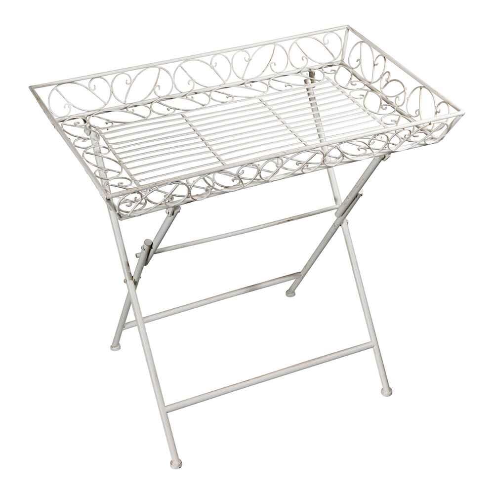Eisen-Beistelltisch, antik-weiß (weiß) - Sitzmöbel - Möbel - Wohnen ...