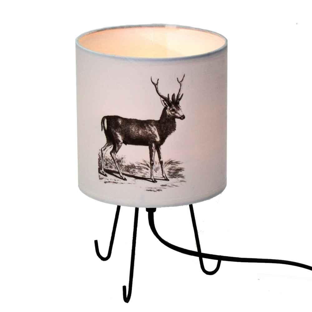 dreifu lampe mit hirsch print beleuchtung wohnaccessoires wohnen online shop. Black Bedroom Furniture Sets. Home Design Ideas