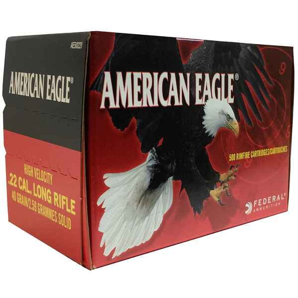 .22 lfb. American Eagle HV Solid 2,6g/40grs., Federal Ammunition