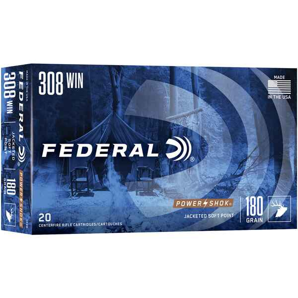 .308 Win. Power Shok Tlm 180 grs., Federal Ammunition